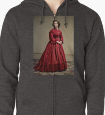 Pauline Cushman, actress and a spy for the Union in the Civil War. Made brevet Major by President Lincoln for her efforts in the war. 1865.  Zipped Hoodie