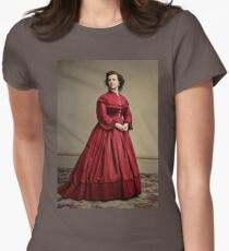 Pauline Cushman, actress and a spy for the Union in the Civil War. Made brevet Major by President Lincoln for her efforts in the war. 1865.  Fitted T-Shirt