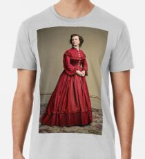 Pauline Cushman, actress and a spy for the Union in the Civil War. Made brevet Major by President Lincoln for her efforts in the war. 1865.  Premium T-Shirt
