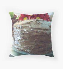Three-Layer Chocolate Cake Throw Pillow