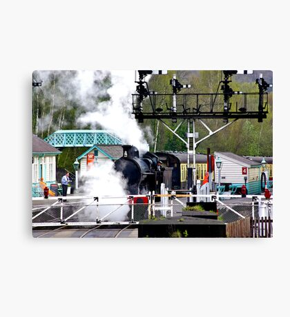 Country Rail Station Canvas Print