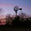 Sunset Windmill by Susan Russell