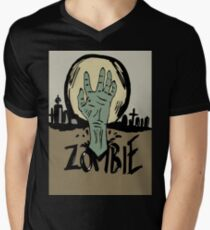 Zombie moon Men's V-Neck T-Shirt