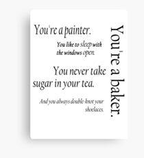 Peeta and Katniss Canvas Print