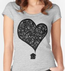 Plumes of Love V2 Women's Fitted Scoop T-Shirt
