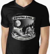 Camp Crystal Lake: Where Summer Lives Forever Men's V-Neck T-Shirt