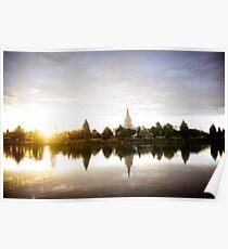 Mormon Temple - Idaho Falls Sunrise Poster