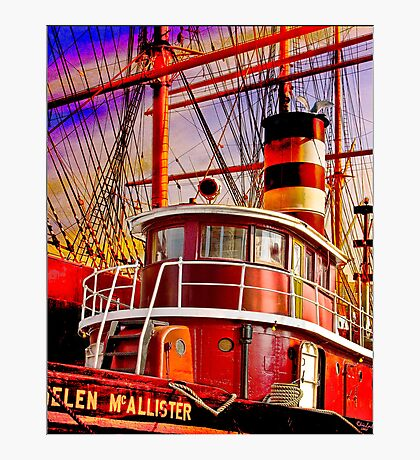 The Tug Boat Helen McAllister Photographic Print