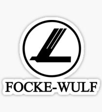 Focke-Wulf Aircraft Logo (Black) Sticker