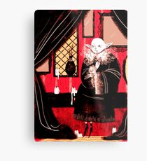 Vampire Sitting Metal Print