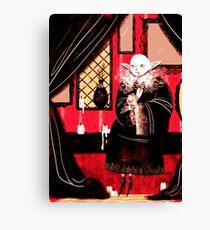 Vampire Sitting Canvas Print