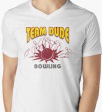 The Dude Bowling T-Shirt Men's V-Neck T-Shirt