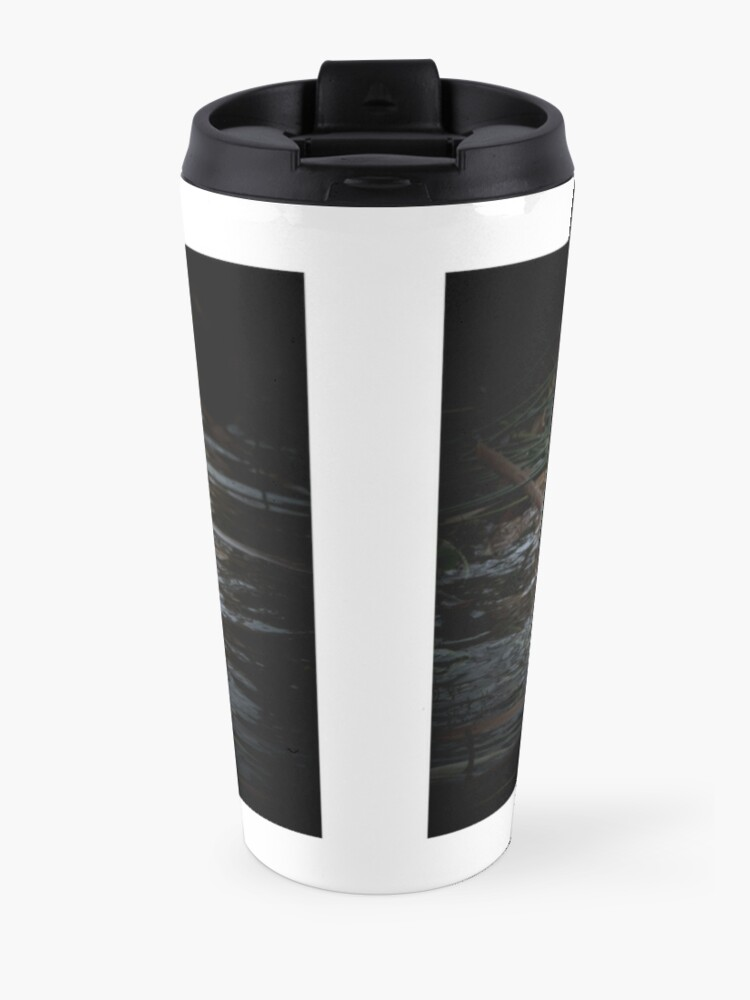 Alternate view of Otter is watching you Travel Mug