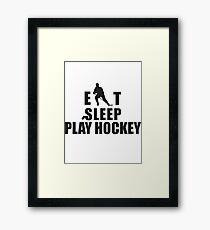 Eat Sleep Play Hockey Framed Print
