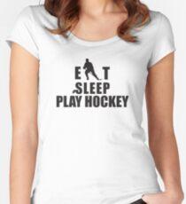 Eat Sleep Play Hockey Women's Fitted Scoop T-Shirt