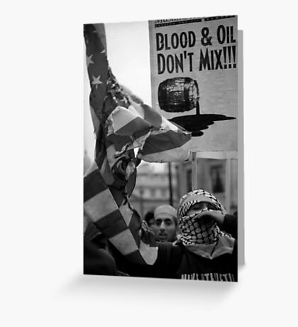 Blood and Oil Greeting Card