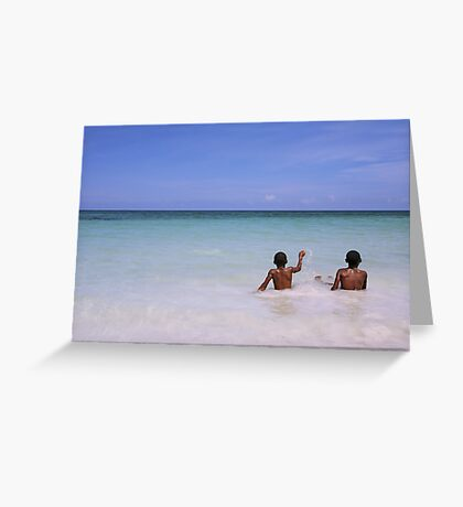 If paradise is half as nice Greeting Card