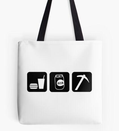 Eat Drink Beer Rockhound Tote Bag