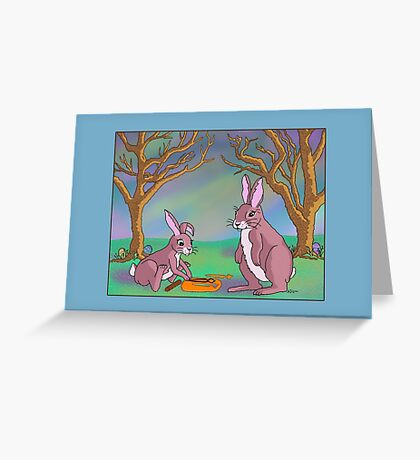 Distracted Easter Bunnies Greeting Card