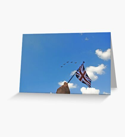 Flying the flag 2 Greeting Card