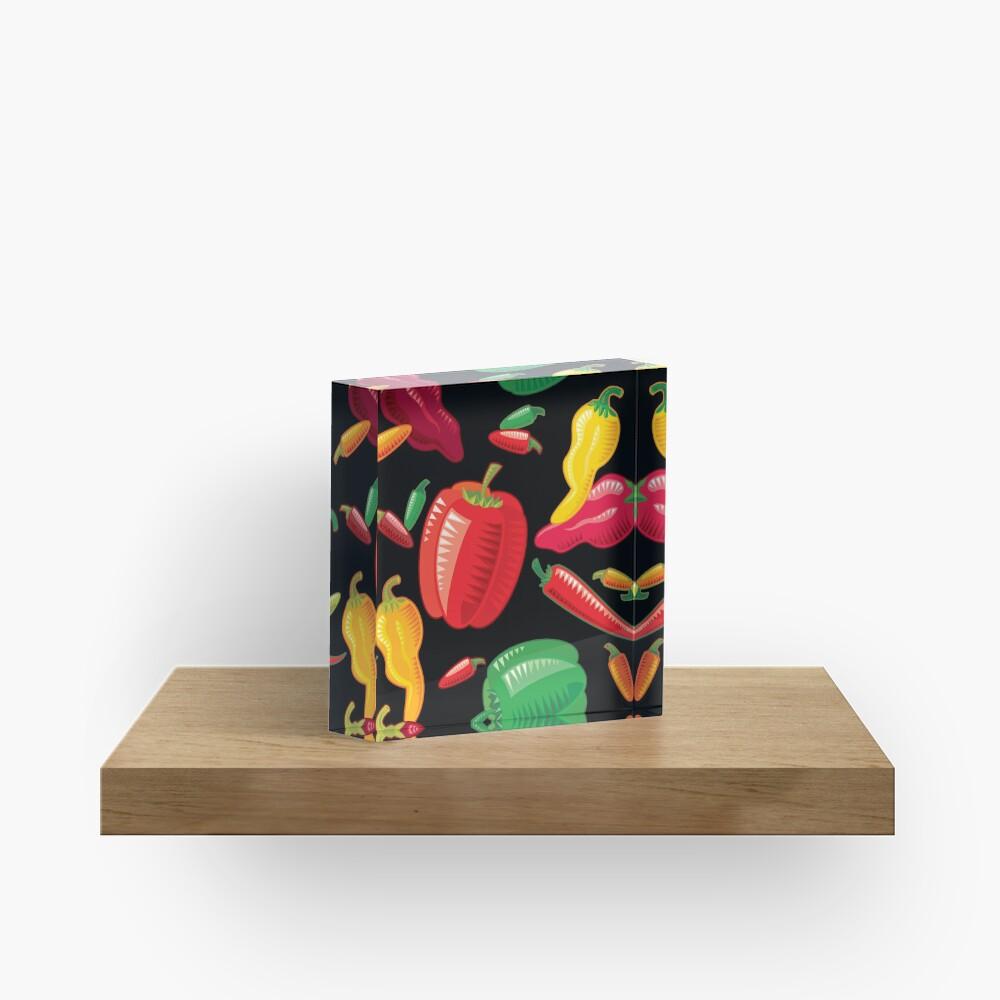 Hot Peppers Acrylic Block