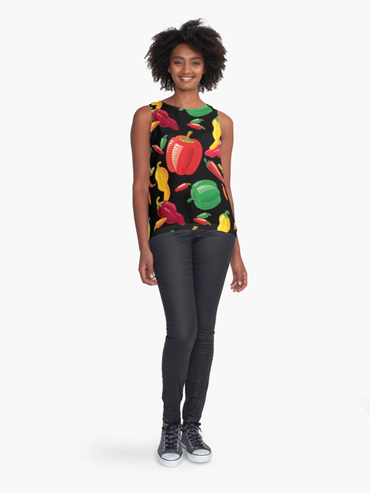 Alternate view of Hot Peppers Sleeveless Top