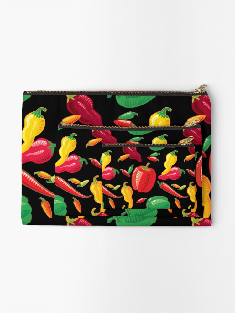 Alternate view of Hot Peppers Zipper Pouch
