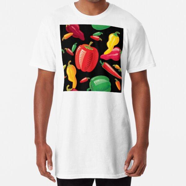 Hot Peppers Long T-Shirt