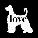 Afghan Hound Dog Love - A Minimalist Distressed Vintage Style Design for Dog Lovers by traciwithani