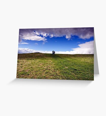Into the clouds Greeting Card