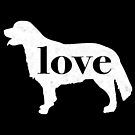 Golden Retriever Dog Love - A Minimalist Distressed Vintage Style Design for Dog Lovers by traciwithani