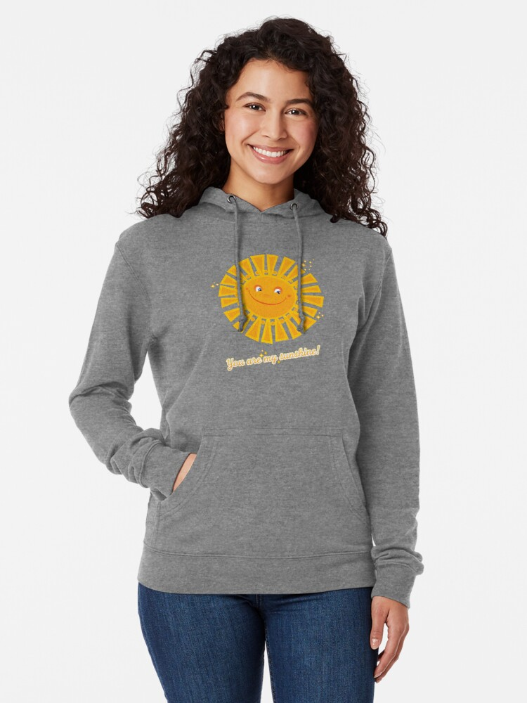 Alternate view of You Are My Sunshine! Lightweight Hoodie