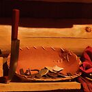 Knife, Basket And Silk by AuntieJ