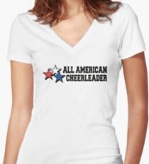 All American Cheerleader Women's Fitted V-Neck T-Shirt