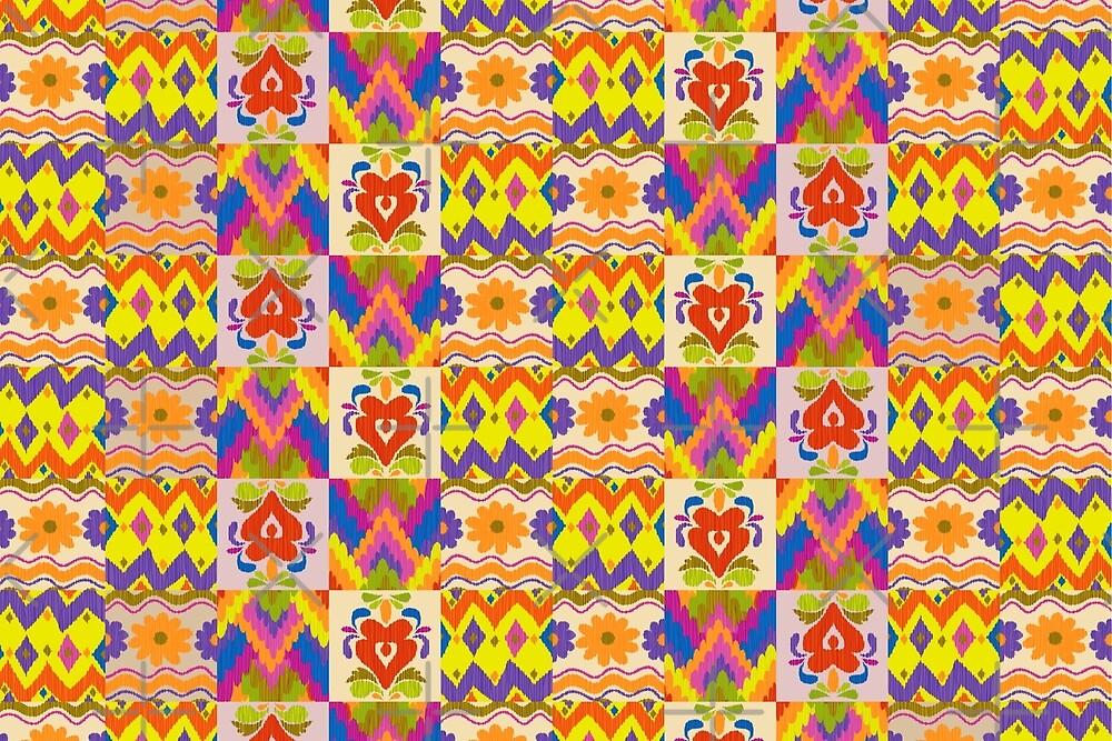 Decorative Ikat Pattern by rusanovska