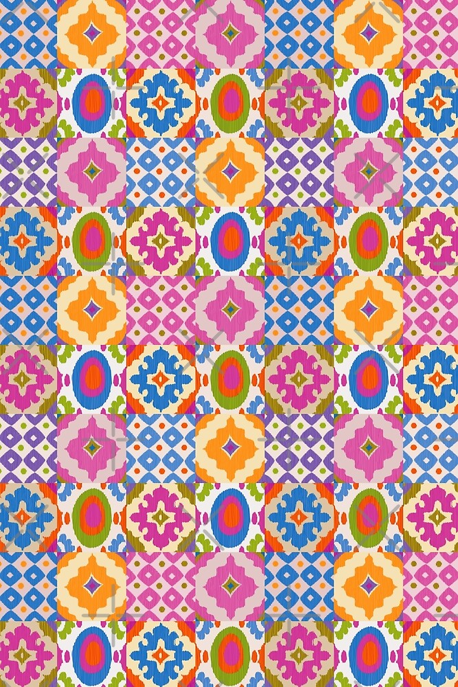 Decorative Ikat Pattern by rusanovska