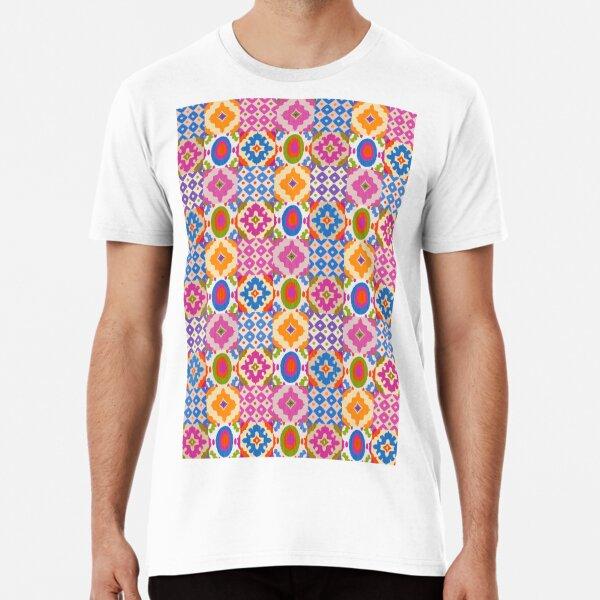 Decorative Ikat Pattern Premium T-Shirt