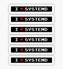 I LOVE SYSTEMD Sticker