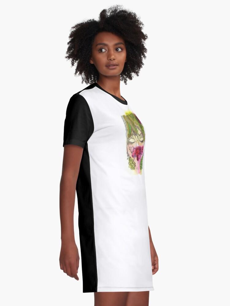 Alternate view of Cherry Girl Graphic T-Shirt Dress