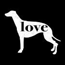 Greyhound Dog Love - A Minimalist Distressed Vintage Style Design for Dog Lovers by traciwithani