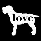 Wirehaired Pointing Griffon (WPG / Griff) Love - A Minimalist Distressed Vintage Style Design for Dog Lovers by traciwithani
