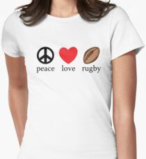"Rugby ""Peace Love Rugby"" T-Shirt"
