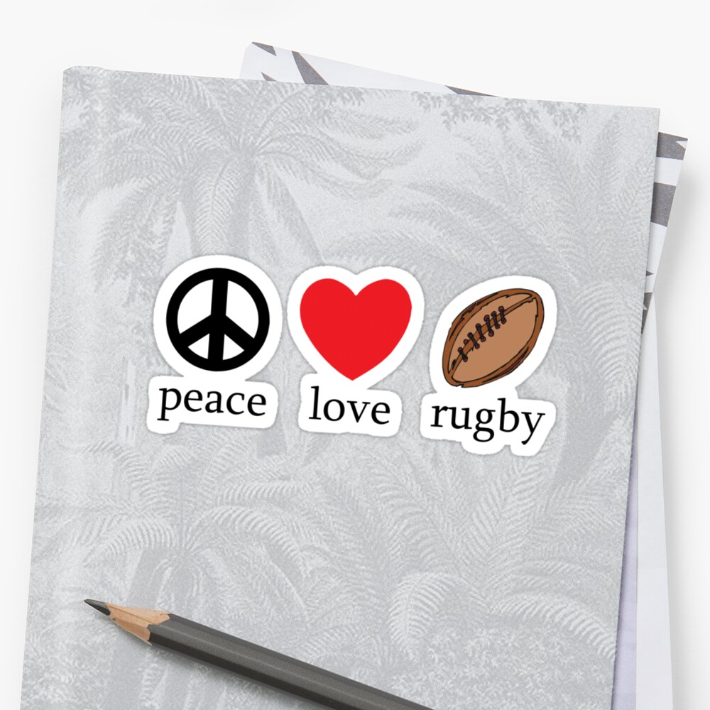 "Rugby ""Peace Love Rugby"" by SportsT-Shirts"