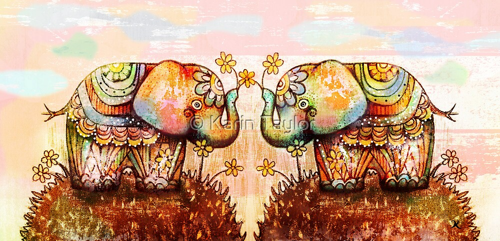 true happiness elephants by © Karin Taylor