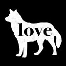 Siberian Husky Dog Love - A Minimalist Distressed Vintage Style Design for Dog Lovers by traciwithani