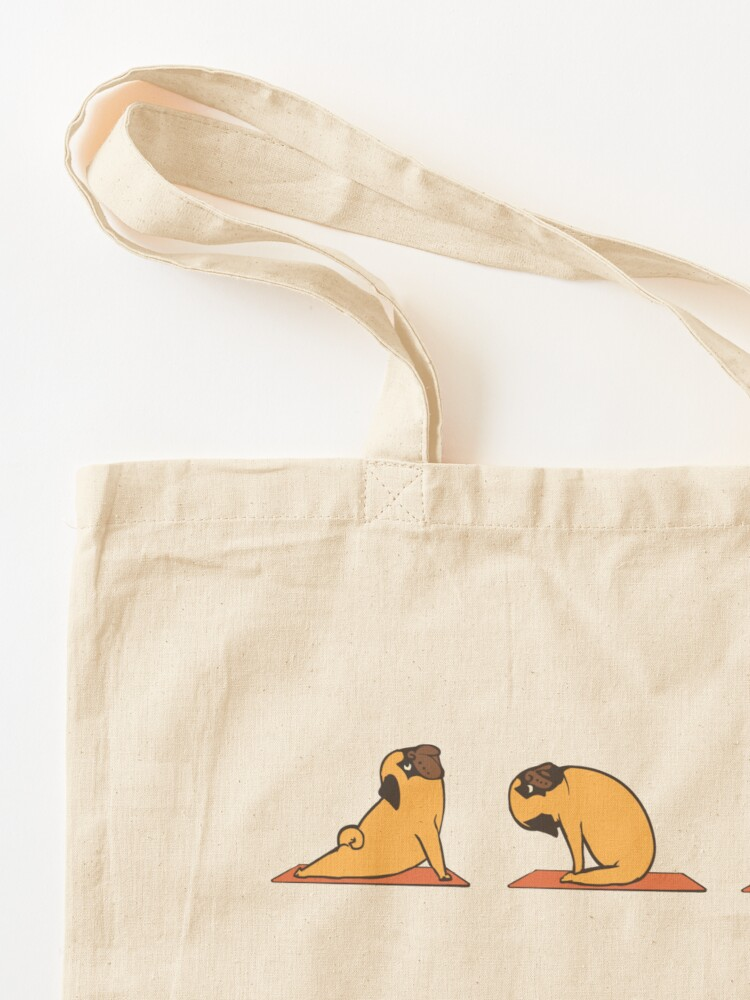 Alternate view of Pug Yoga Tote Bag