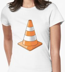 traffic cone Women's Fitted T-Shirt