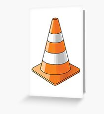 traffic cone Greeting Card