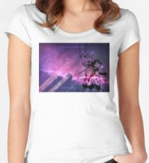 Sailor Scouts Purple Galaxy - Sailor Moon Women's Fitted Scoop T-Shirt