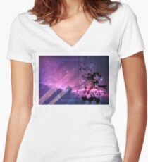 Sailor Scouts Purple Galaxy - Sailor Moon Women's Fitted V-Neck T-Shirt